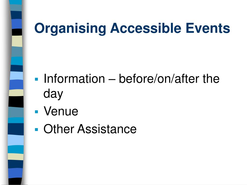 organising accessible events l.