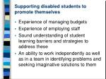 supporting disabled students to promote themselves