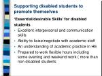 supporting disabled students to promote themselves3