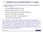 hospitals are essential players in a place