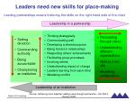 leaders need new skills for place making