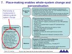 place making enables whole system change and personalisation