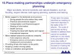 place making partnerships underpin emergency planning
