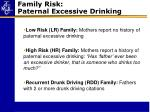 family risk paternal excessive drinking
