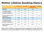mother lifetime smoking history