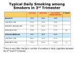 typical daily smoking among smokers in 3 rd trimester