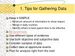 1 tips for gathering data