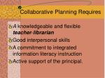 collaborative planning requires