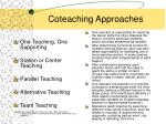 coteaching approaches