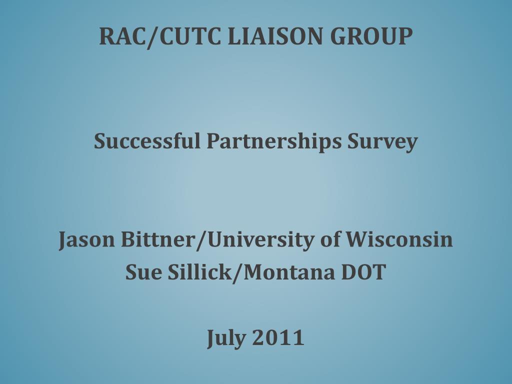 rac cutc liaison group l.