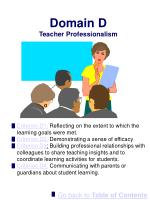 domain d teacher professionalism