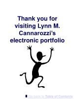 thank you for visiting lynn m cannarozzi s electronic portfolio