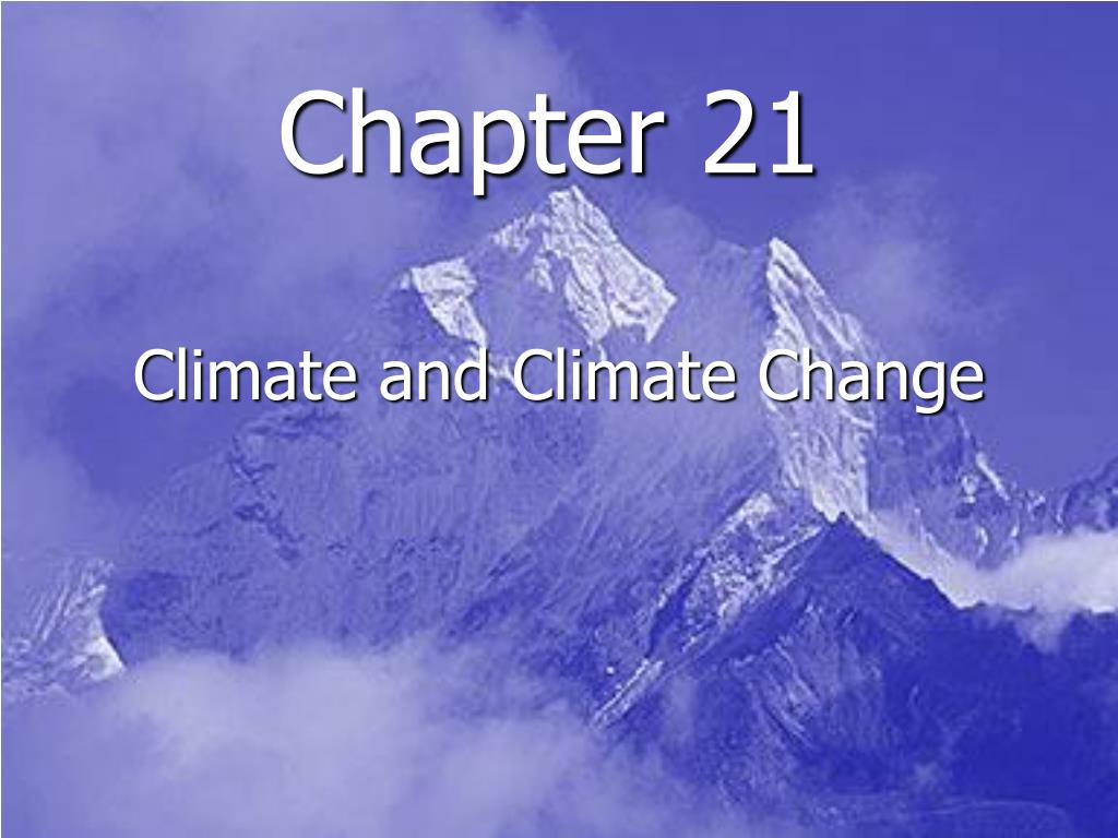 climate and climate change l.