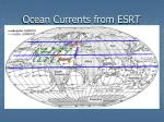 ocean currents from esrt