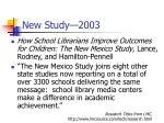 new study 2003