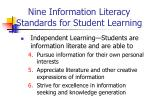 nine information literacy standards for student learning28