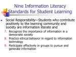 nine information literacy standards for student learning29