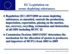 ec legislation on ozone depleting substances