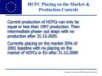 hcfc placing on the market production controls