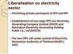 liberalisation on electricity sector