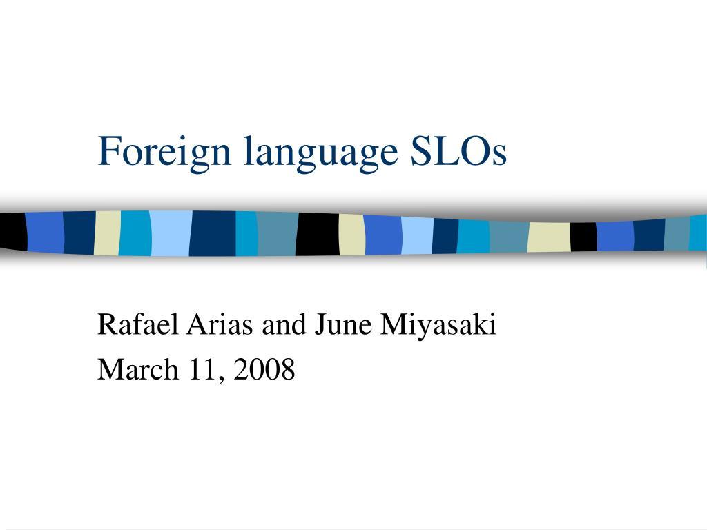 foreign language slos l.