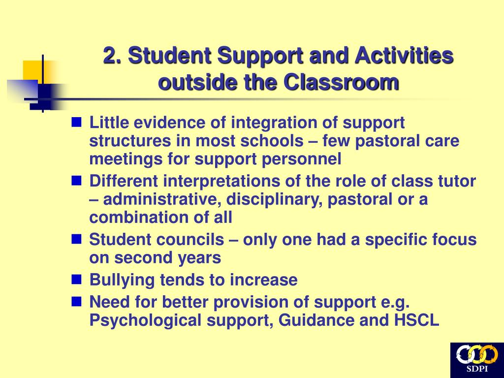 2. Student Support and Activities outside the Classroom