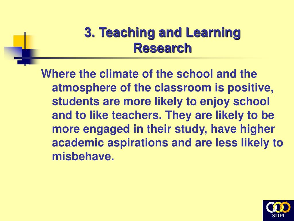 3. Teaching and Learning