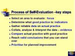 process of self evaluation key steps