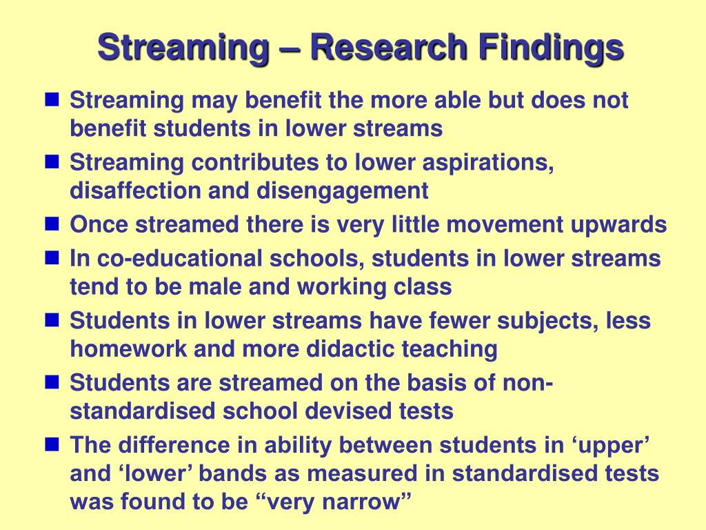 Streaming – Research Findings