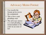 advocacy memo format
