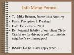 info memo format