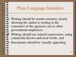 plain language initiative