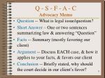 q s f a c advocacy memo