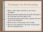 techniques for proofreading