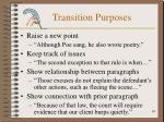 transition purposes
