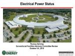 electrical power status