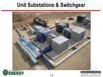 unit substations switchgear