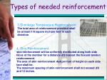 types of needed reinforcement19
