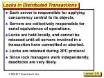 locks in distributed transactions