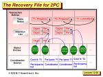 the recovery file for 2pc