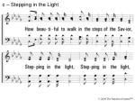 c stepping in the light7