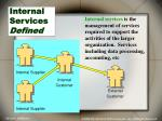 internal services defined