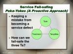 service fail safing poka yokes a proactive approach