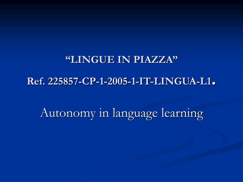 lingue in piazza ref 225857 cp 1 2005 1 it lingua l1 l.