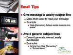 email tips23