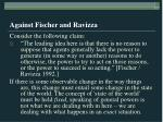 against fischer and ravizza20