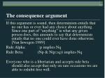 the consequence argument6