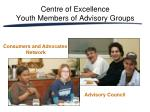 centre of excellence youth members of advisory groups