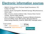 electronic information sources