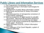 public library and information services